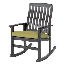 Better Homes & Gardens Delahey Cushioned Outdoor Wood Rocking Chair -  Walmart.com