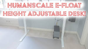 Humanscale Float Standing Desk by Humanscale Efloat Height Adjustable Desk Youtube