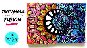 Zentangle Colour Fusion Zenspiredesigns Inspired