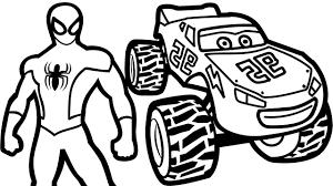 100 Monster Truck Coloring Book J3KP Top