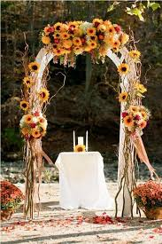 Fall Colored Bold Rustic Wedding Arch