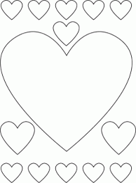 Printable Coloring Pages Hearts 12 Valentine