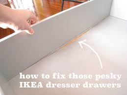 Ikea Aneboda Dresser Slides by Cheap Ikea Drawers And The Quick Fix Merrypad
