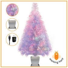Mini Fiber Optic Christmas Tree Walmart by Christmas Fiber Optic Pre Lit Christmas Tree And Ft Trees