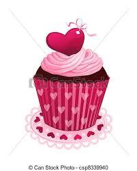 Chocolate Cake clipart pink cupcake 3