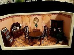 vintage wohnzimmer für puppenstuben häuser im maßstab 1