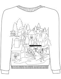 Winter Sweater Coloring Pages