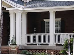 Columns On Front Porch by Square Fiberglass Porch Columns Curb Appeal Products
