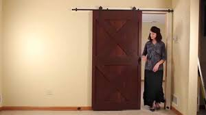 Quiet Glide Rolling Barn Door - Round Rail - YouTube Quiet Glide 36 In X 81 Top Mount Style Ponderosa Pine 3 2 Satin Nickel Sliding Door Latch And 96 H 16 W Unfinished Walnut Ladderqg6008wa Hammered Antique Brass Rolling Hook Ladder Hdware Black Round Single Fniture Kit Nt1400w08 Strap Barn 138 214 Dome Center Floor Guide Swivel For 20 7 878 Dually Roller How To Assemble A Rta Youtube Long New Age Rust Wall Rail Bracketqg20109 Bedroom