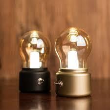 new vintage bulb light retro usb l rechargeable luminaria