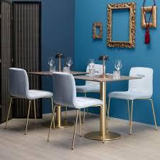 stuhl für wohnzimmer aus gepolstertem samt made in italy 2 stück scab design