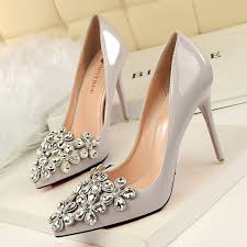 Fashion Patent Leather Bridal Shoes Pumps Pointed Toe High Heels