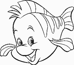 Disney Coloring Pages Little Mermaid Flounder