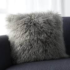 Mongolian Fur Silver Pillow