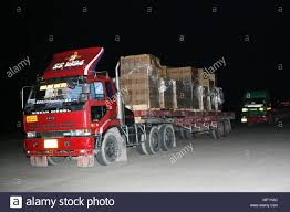 100 Trucks Are Us Are Loaded With Supplies Recently Arriving On An American