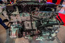 100 Diesel Truck Engines Closeup Photography Of Modern New Engine Stock Photo