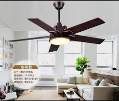 Industrial Mute Fan Ceiling Light Living Room Dining LED With Remote