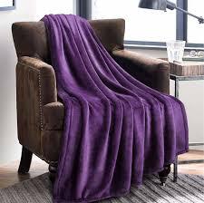 kuscheldecke lila flauschige decke weich warm wohndecke in wohnzimmer 150x200 cm flanell fleecedecke falten beständig anti verfärben als