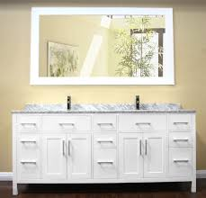 Bathroom Double Vanity Cabinets by Amazing Design Ideas Using Rectangular Brown Wooden Wall Shelves