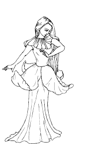 Printable 13 Moon Fairy Coloring Pages 4017