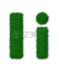 Illustration Capital And Lowercase Letter A Made Grass Stock