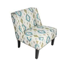 DecentHome DecentHome Geometric Print Fabric Lien Chair For Living ...