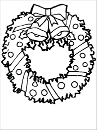 Free Coloring Pages Wreath Preschool Advent Page Christmas Printable Full Size