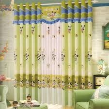mickey mouse green curtains for kids rooms