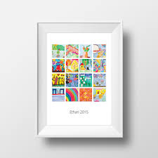 Kids Art Collage Poster Artwork Displayed As A