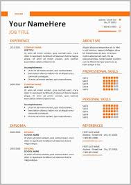 Example Of A Modern Resume Examples Elegant 52 New Cv Templates Full Hd