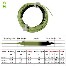 jsm 100ft double color fly fishing line weight forward sink tip