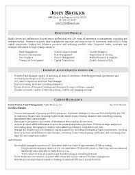 Portfolio Manager Resume