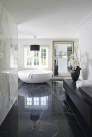 traumbad with marble and white bathtub bathroom