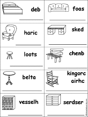 Unscramble Words For Furniture