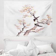 wandteppich aus weiches mikrofaser stoff für das wohn und schlafzimmer abakuhaus rechteckig kunst chinesische farbe der blumen kaufen