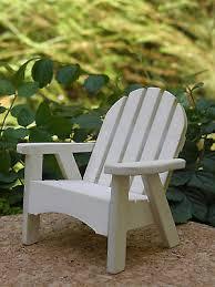 Miniature FAIRY GARDEN Furniture Vintage White Beach Chair NEW