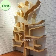 bk066 kreative massivholz bücherregal wohnzimmer schlafzimmer wand dekorative regal bücherregal diy baum form holz bücher lagerung regal