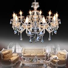 Ridgeyard Modern Luxurious K9 Crystal Chandelier Candle Cognac Pendant Lamp Ceiling Living Room Lighting For Dining