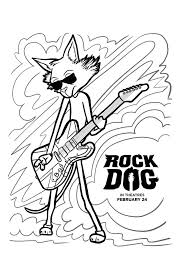 Free Rock Dog Coloring Pages