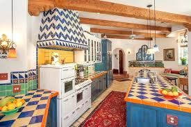 mexican ceramic floor tile traditional kitchen design the uprising
