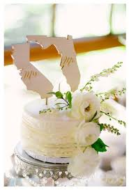 Mr And Mrs State Cake Toppers Wedding Topper Rustic DownInTheBoondocks