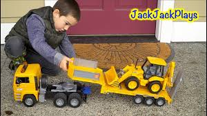 Bruder Toy Trucks: Unboxing And Playing With Backhoe + Tractor ... Cstruction Trucks For Children Learn Colors Bruder Toys Cement Bruder Tractors Claas New Holland John Deere Jcb 5cx Toys Youtube Children 02450 Cat Rolldozer Unboxing By Jack 4 Phillips Toy Garbage Truck Video 3 Videos Children And Tonka Toys Village New Road Mack Granite Dump Truck Rc Cveionfirst Load After Man Tgs Tanker 03775 Technology Of Boys 2014 Car Timber Scania Mobilbagger 0244 Excavator Site Dump Best Of Videos
