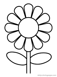 Flower Coloring Page View Larger