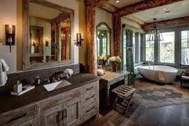 Rustic Style Bathrooms Bathroom Vanity Cabinets And Accessories Ideas