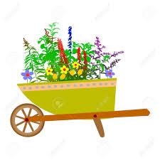 Wheelbarrow Garden And Flowers