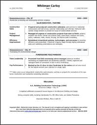 Sample Resume For Construction Example Entrepreneur Page 2 Office Manager Company