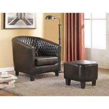 100 Accent Chairs With Arms And Ottoman Isabella Black Faux Leather Arm Chair With C045 The Home Depot