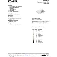 Kohler Sink Grid Stainless Steel by Kohler K 8668 3a1 0 Riverby White Drop In Single Bowl Kitchen