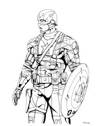 Gallery Of Captain America Coloring Pages Civil War Movie In