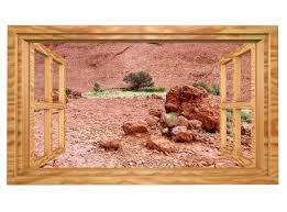 3d wandmotiv wüste steine fenster afrika wandbild wandsticker selbstklebend wandtattoo wohnzimmer wand aufkleber 11e455
